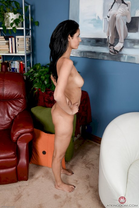 Exotic Latina beauty Karmen Bella giving exciting closeups of her spread pussy