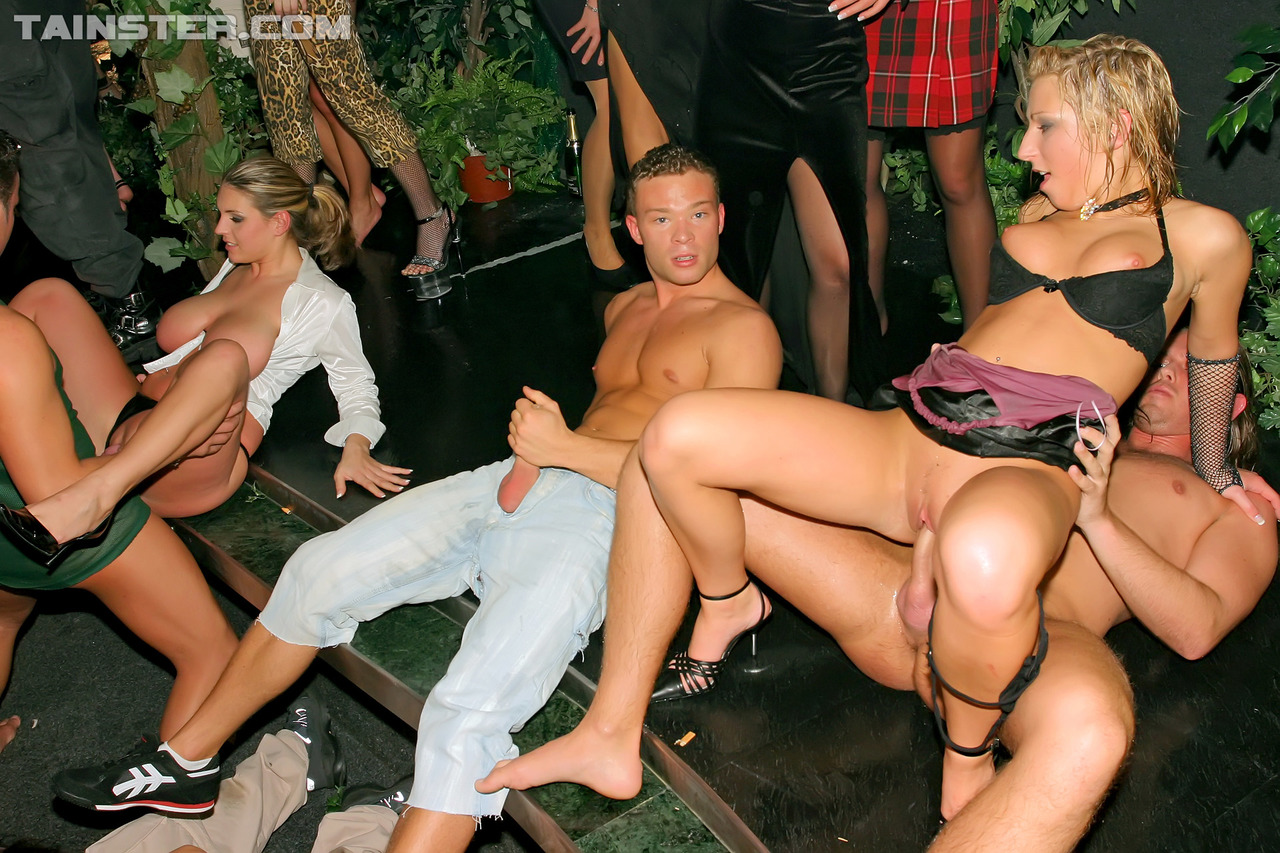 Mistress made blonde group public fuck