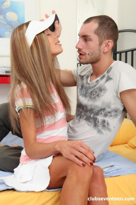 Adorable tennis girl Tiffany H rides a stiff boner with both her holes