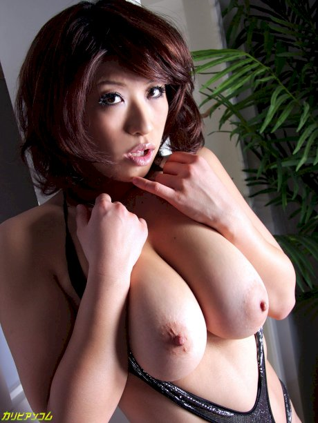 Stunning Japanese girl with juicy tits Miwa Nishiki enjoying a bukkake 3some