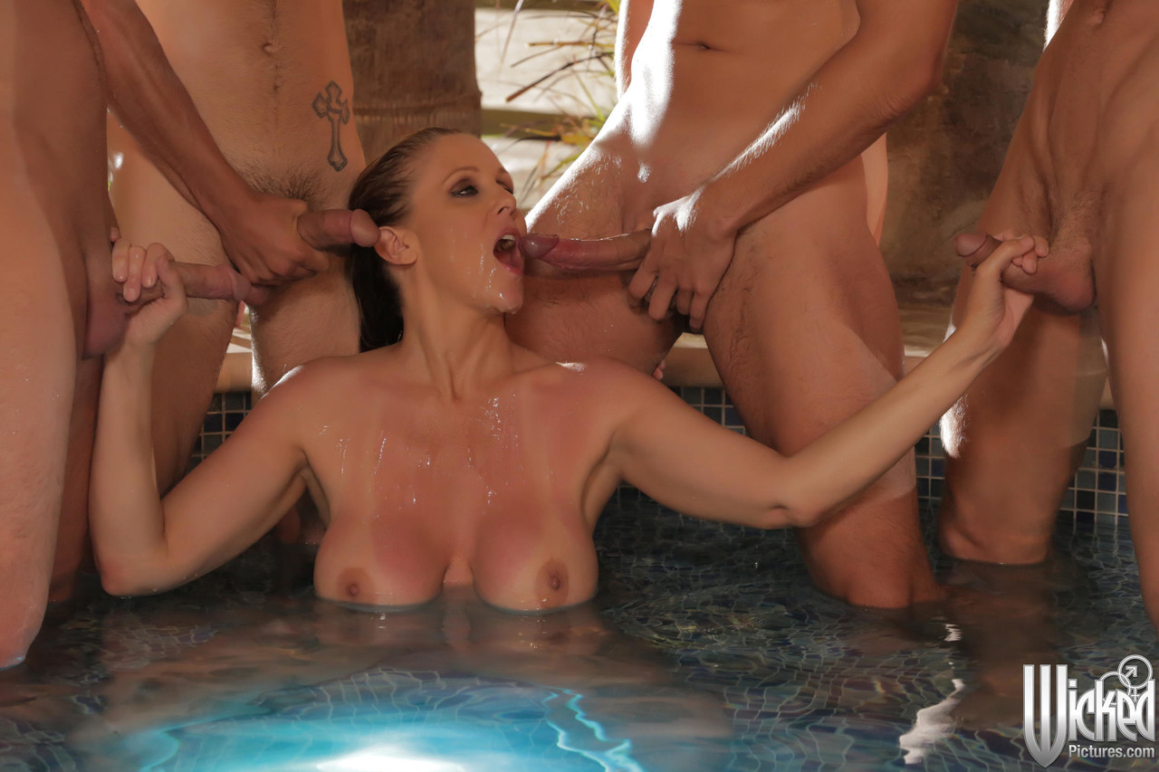 Pool Party Wife Gangbang