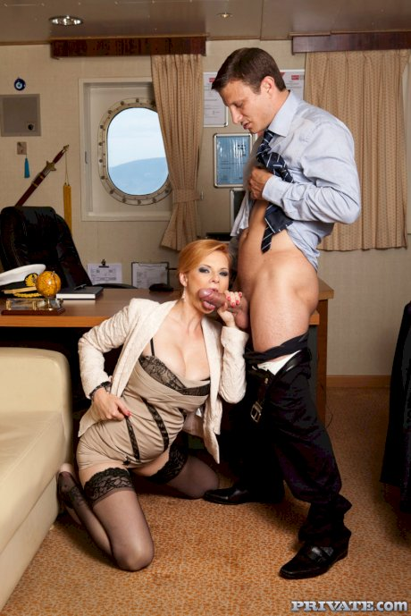 Naughty Czech receptionist Tarra White enjoying hot anal sex with her boss