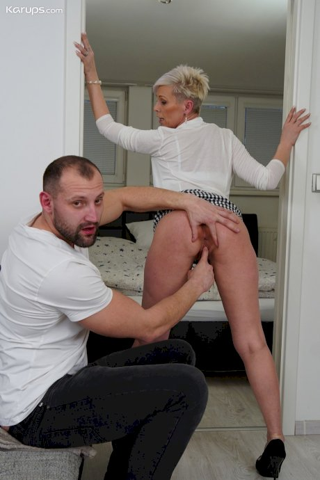 Mature hottie Kathy White gives head and gets rammed in many positions