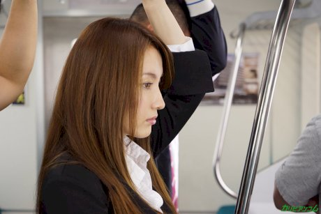 Asian honey Hitomi Hayama gets stripped and fucked on public transport