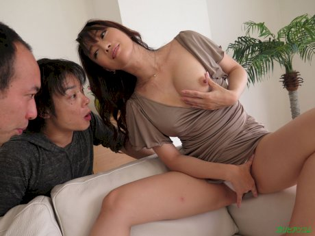 Adorable Japanese with nice tits Haruka Aizawa gets banged in hot lingerie